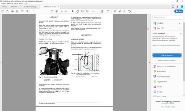 John Deere 3030 3130 technical manual  -  TM4277  -  english