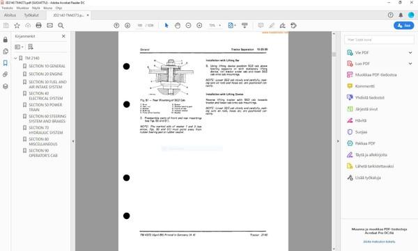 John Deere 2140 technical service manual  -  TM4373  -  english