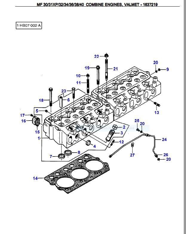 Valmet 611 DSL varaosakirja (räjäytyskuvat)