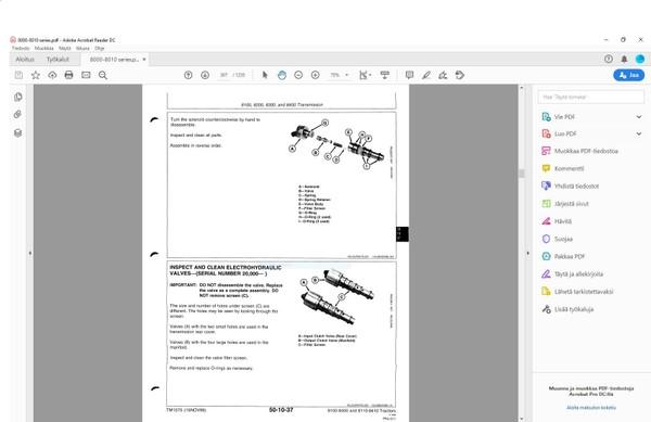 John Deere 8100 8200 8300 8400 8110 8210 8310 8410 - technical manual TM1575