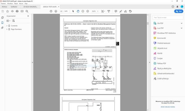 John Deere 6020 6120 6220 6320 6420 6420S 6520 6620 6820 6920 6920S - operation + tests manual