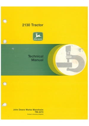 John Deere 2130 - technical manual -  TM4272 - english