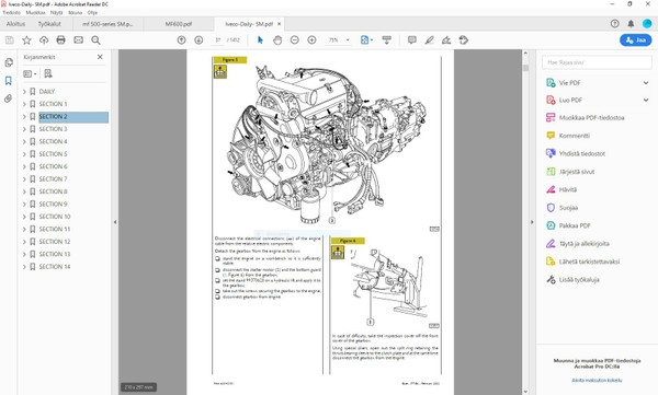 Iveco Daily  2000-2005  -  service manual  -  1412 pages  -   english