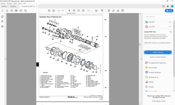 John Deere 3200 3400 telescopic handler - technical service manual - TM4626
