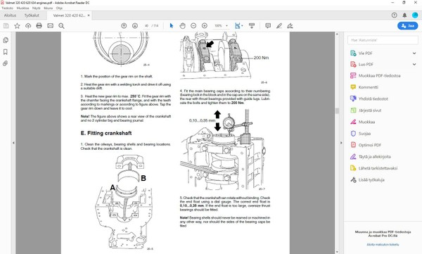 Sisudiesel 320 420 620  634 engines  -  service manual