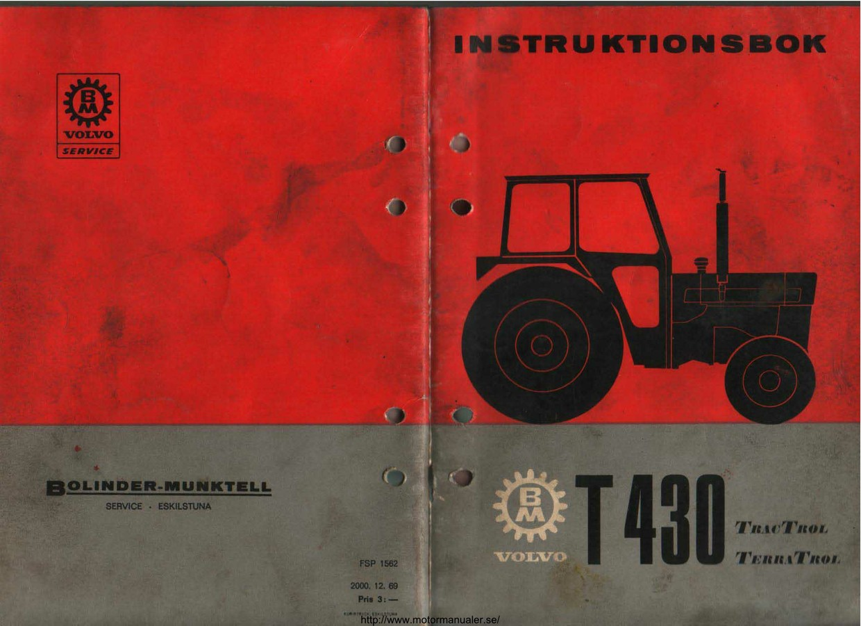 Volvo BM T430 instruktionsbok