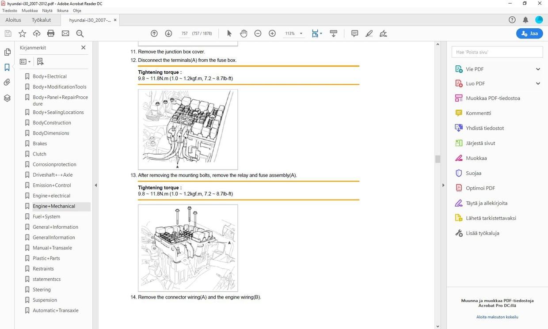 Hyundai i30  -  2007-2012  -  service manual  -  english