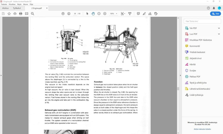 Volvo 164 service manual  +  parts manual