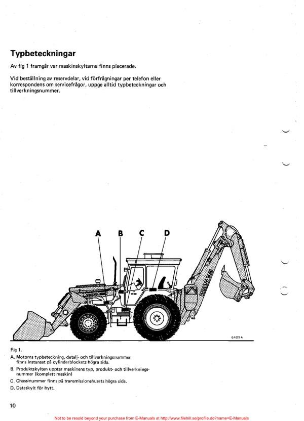 Volvo BM 616 646 reservdelskatalog