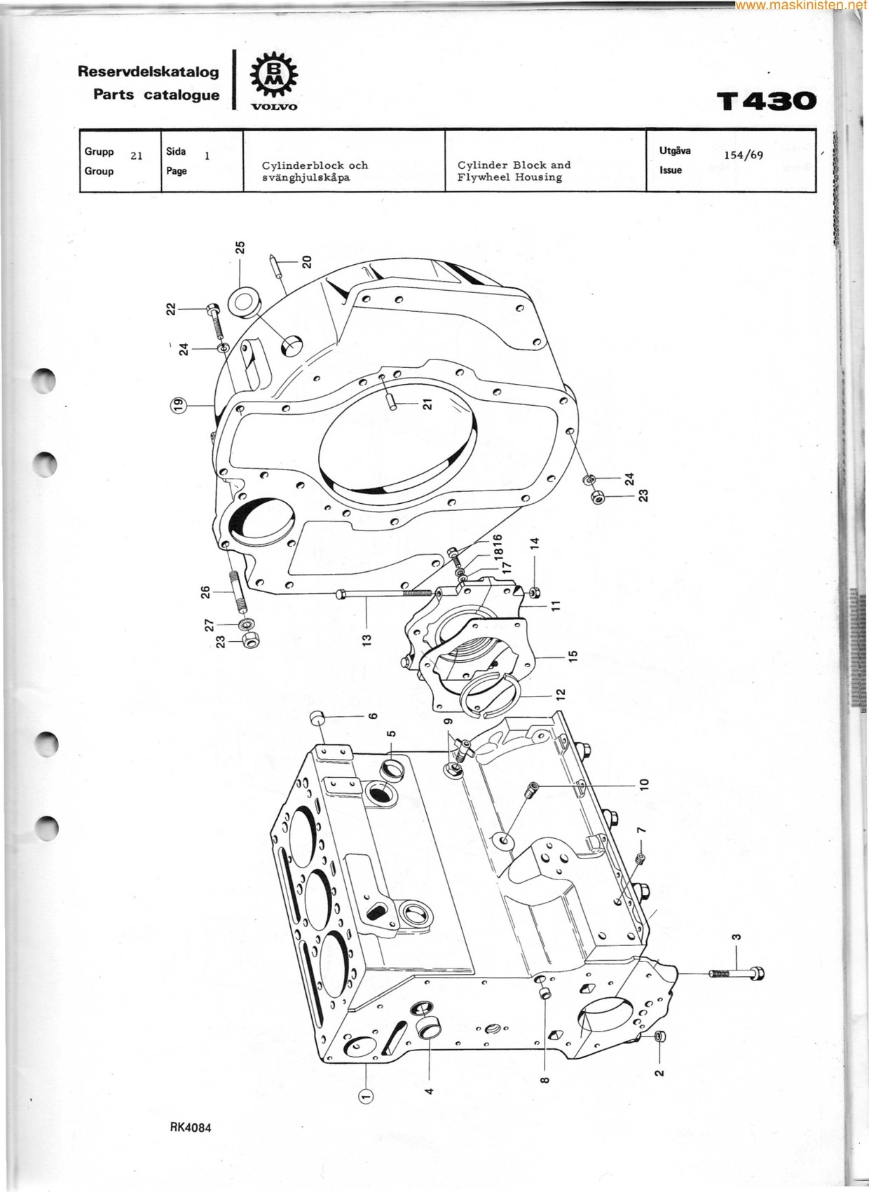 Volvo BM T430  reservdelskatalog