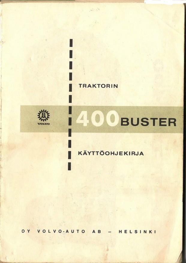 Volvo BM 400 Buster käyttöohjekirja