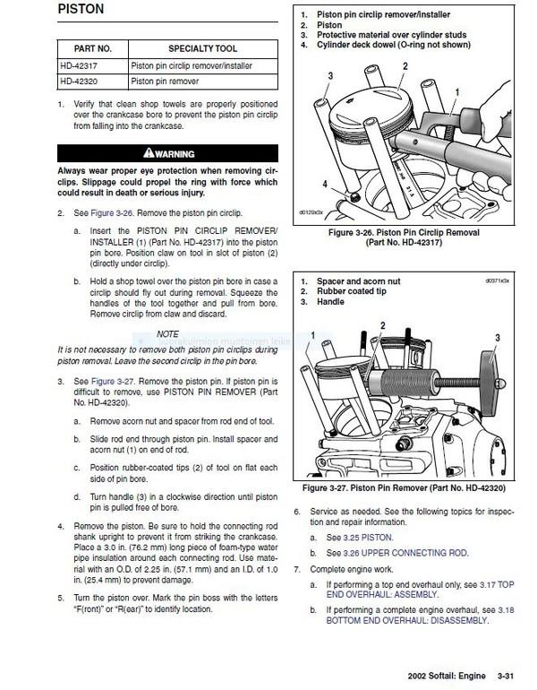 Harley Davidson Softail 2002  service manual  -  english