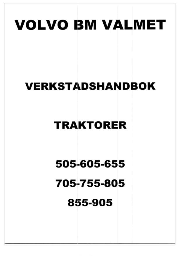 Valmet 505 - 905  -  verkstadshandbok