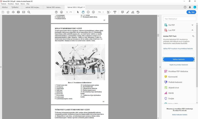 Valmet 565 käyttäjän käsikirja