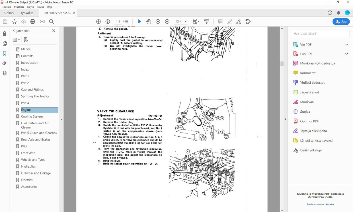 Massey Ferguson 550 565 575 590 service manual - english