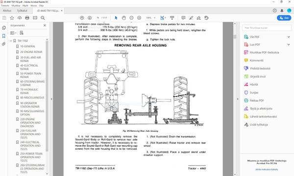 John Deere 4440 - technical manual - TM1182 - english