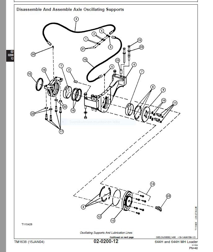 John Deere  644H  644H MH  loader  -   technical manual  -  TM1638  -  english