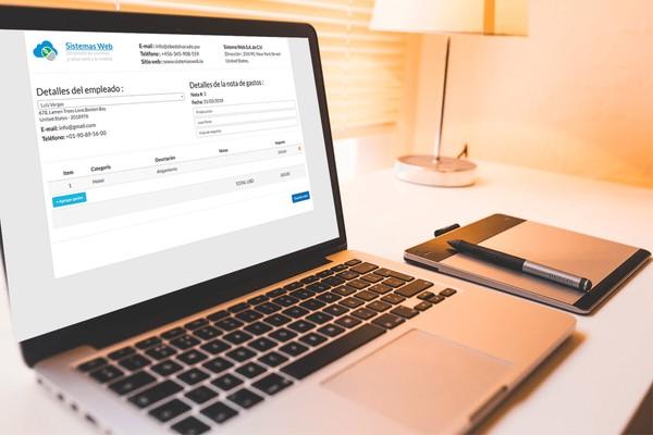 Sistema web de nota de gastos desarrollado con PHP, MySQL y Bootstrap 3