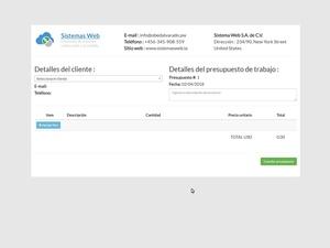 Sistema web para crear presupuestos de trabajo desarrollado con PHP, MySQL y Bootstrap