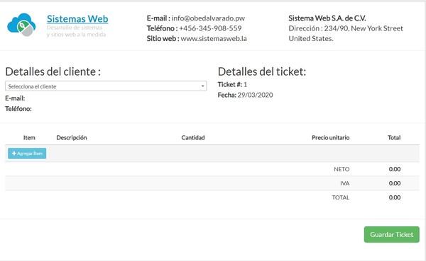 Imprimir tickets en una impresora térmica usando PHP, JavaScript, CSS y HTML