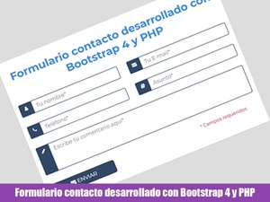 Formulario de contacto desarrollado con Bootstrap 4 y PHP