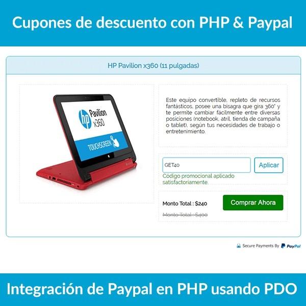 Cupones de descuento con PHP & Paypal