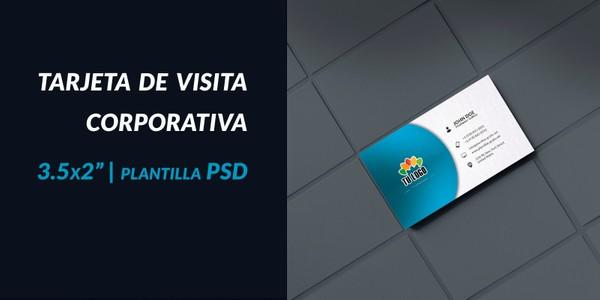 Tarjeta de visita corporativa PSD