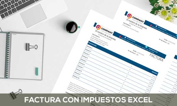 Modelo de factura con impuesto - Excel
