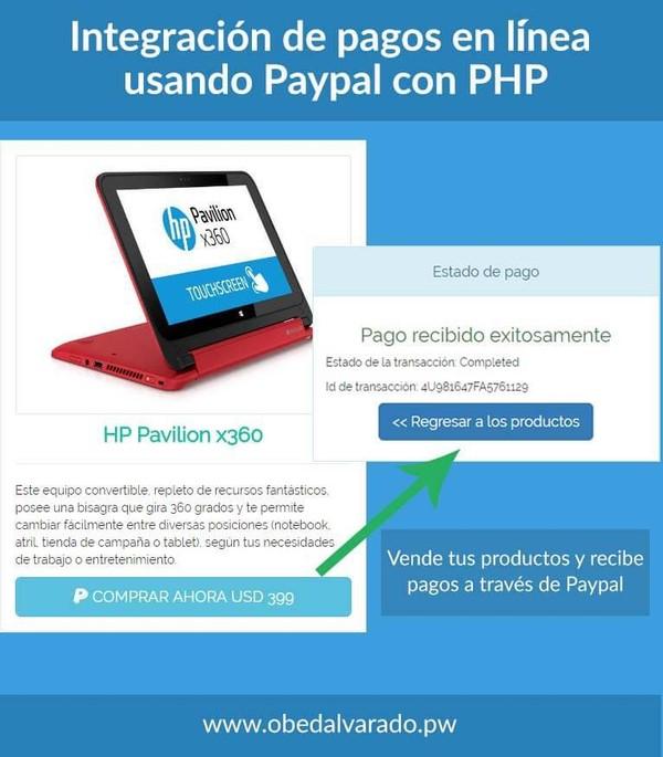 Integración de pagos en línea usando PayPal con PHP