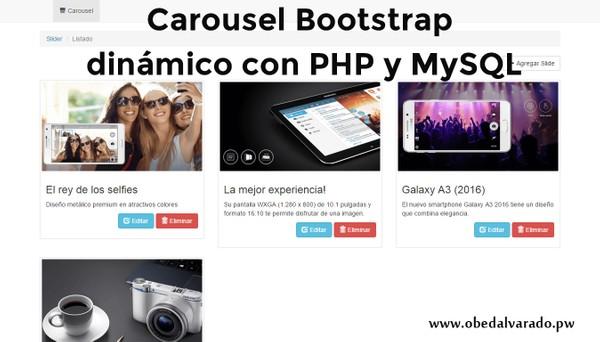 Carousel Bootstrap dinámico con PHP y MySQL
