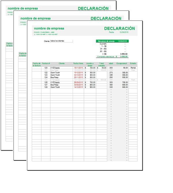 Formato de seguimiento de facturas