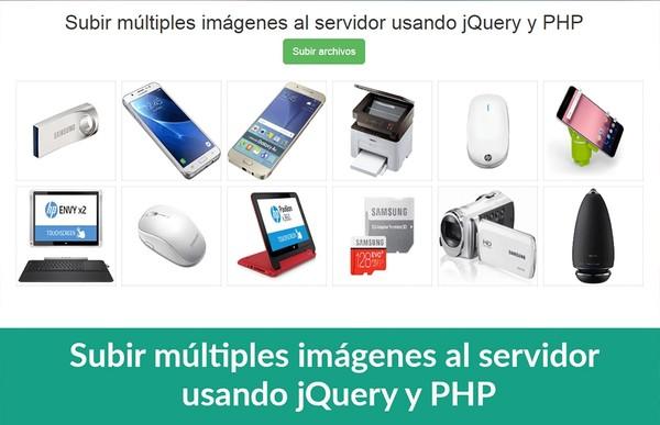 Subir múltiples imágenes al servidor usando jQuery y PHP