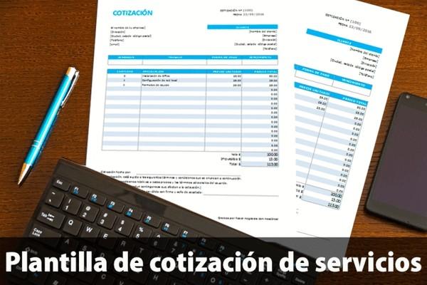 Plantilla de cotización de servicios Excel