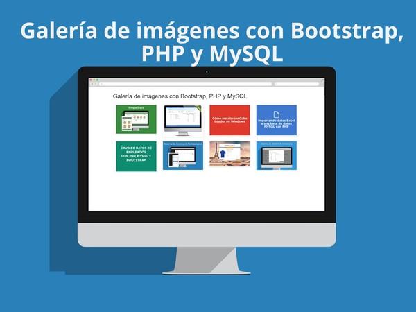 Galería de imágenes con Bootstrap, PHP y MySQL