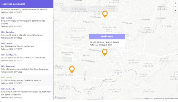 Crear un localizador de tiendas utilizando Mapbox GL JS, PHP y MySQL
