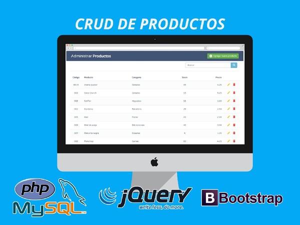 CRUD de productos con PHP – MySQL – jQuery AJAX