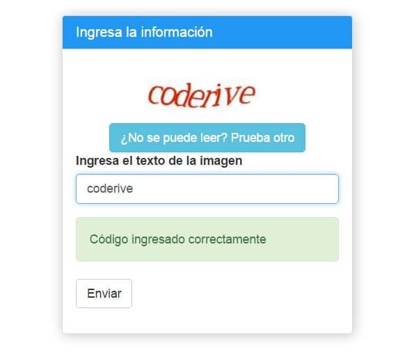 Google Captcha con PHP & Bootstrap