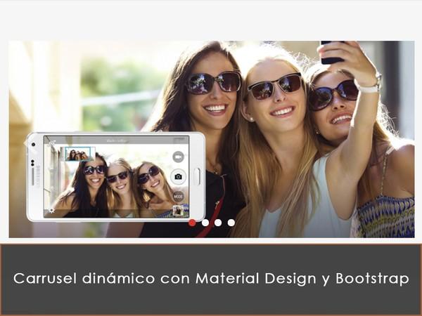 Carrusel dinámico con Material Design y Bootstrap