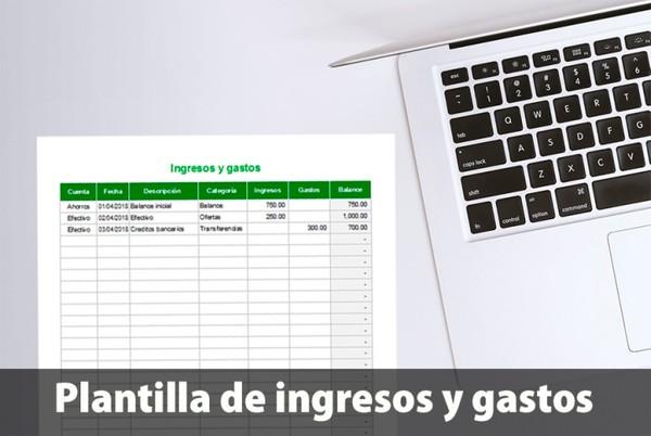 Plantilla de seguimiento de ingresos y gastos en Excel
