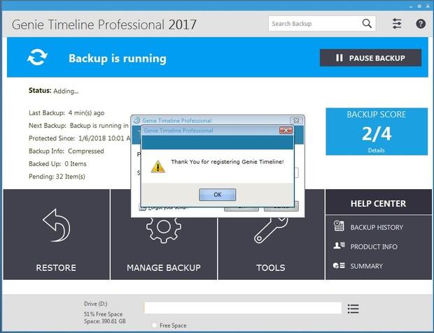 Original Genie Timeline Professional 2017 Final Full Lifetime License