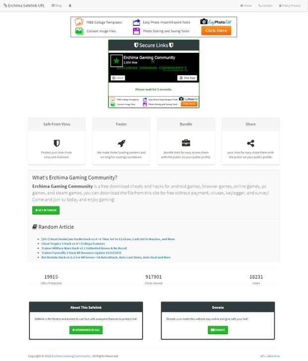 Erchima Safelink URL v2.3 Blogger Template