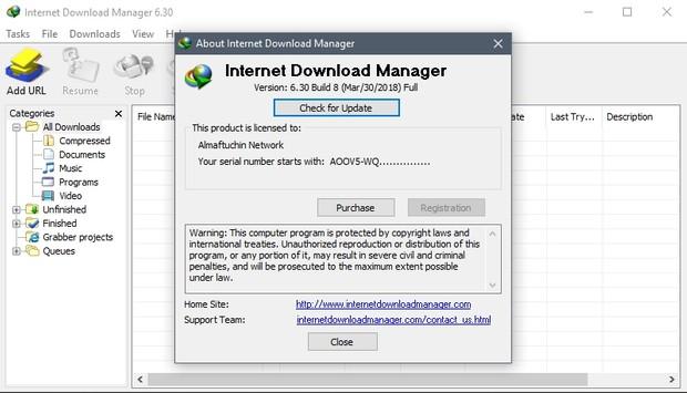 internet download manager 6.30 build 8 serial key