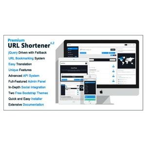PHP Script Premium URL Shortener v4.2.4