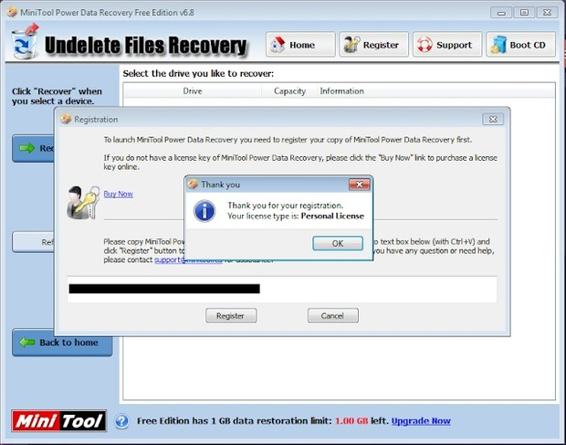 Original License Mini Tool Power Data Recovery 6.8 Lifetime Activation
