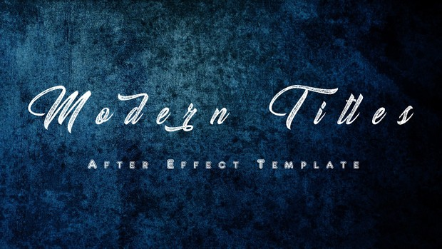 Best After Effect Templates Modern Titles By Visual Motions