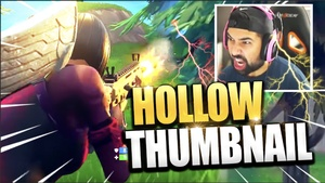 HOLLOW POINT THUMBNAIL TEXT STYLE FORTNITE - PHOTOSHOP