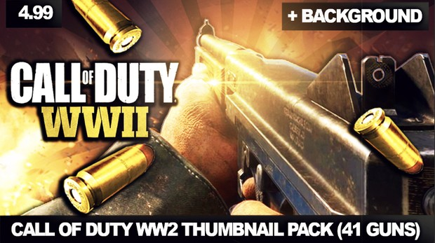 CALL OF DUTY WW2 THUMBNAIL PACK + BACKGROUND - By ZeoCrysis