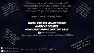 UnFocus Designs Minecraft Sword Lighting Pack