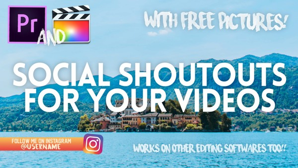 Like/Subscribe + Social Shoutouts Pictures!