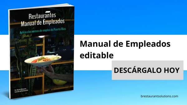 Manual del Empleado para Restaurantes editable